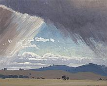 ELIOTH GRUNER, 1882 – 1939, STORM CLOUDS, 1931, oil on board