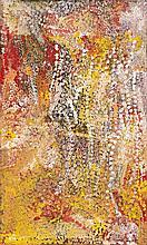 EMILY KAME KNGWARREYE, c.1910 – 1996, UNTITLED (MERNE KAME), 1995, synthetic polymer paint on linen