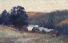 CLARA SOUTHERN, 1860 – 1940, EVENING, WARRANDYTE, oil on canvas on board