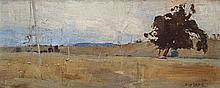 SYDNEY LONG, 1871 – 1955, BATHURST PLAIN, 1902, oil on panel