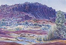 ALBERT NAMATJIRA, 1902 – 1959, PALM VALLEY, c.1950, watercolour on paper