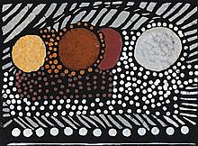 MARGARET PRESTON, 1875 – 1963, ABORIGINAL ART, 1949, colour stencil on black card