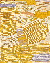 MAKINTI NAPANANGKA, c.1930 – 2011, LUPULNGA, 2005, synthetic polymer paint on linen