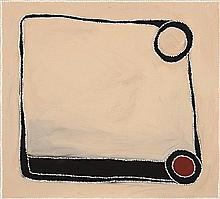 PADDY NYUNKUNY BEDFORD, c.1922 – 2007, CAMEL GAP, 2002, ochres and pigments with synthetic binder on linen