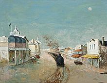 SALI HERMAN, 1898 – 1993, ELLEN ST, PORT PIRIE, 1965, oil on canvas