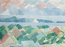 GODFREY MILLER, 1893 – 1964, HARBOUR SKETCH, oil on canvas on board