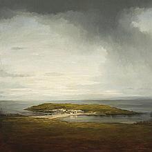 ALEXANDER MCKENZIE, born 1971, CROFTS ON LOCH ERIBOLL, 1999, oil on canvas