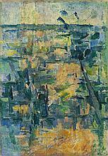 JOHN PASSMORE, 1904 - 1984, LANDSCAPE, c.1946, oil on canvas
