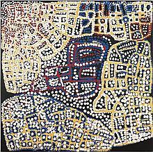 ALMA WEBOU, (c1928 - 2009), PINKALAKARA, 2004, synthetic polymer paint on canvas