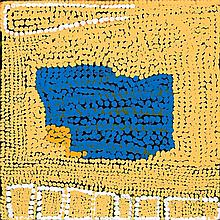 MIYAPU MARY MERIBIDA, born c1930, UNTITLED, 2004, synthetic polymer paint on linen