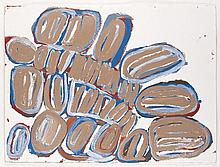 JAN BILLYCAN, born c1930, ALL THE JILA, 2005, synthetic polymer paint on paper
