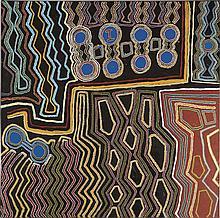 PARLURN HARRY (NABIRU) BULLEN, (c1923 - 2009), WINPA, 2004, synthetic polymer paint on linen