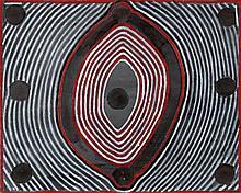 JANANGOO BUTCHER CHEREL, (c1920 - 2009), GAMBA DAGOOLA, 2002, synthetic polymer paint on canvas