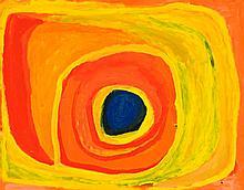 PAJI HONEYCHILD YANKARR, (1914 - 2004), UNTITLED, 2003, synthetic polymer paint on linen