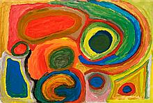 PAJI HONEYCHILD YANKARR, (1914 - 2004), MUKURRUTU, 1994, synthetic polymer paint on Velin Arches paper