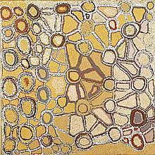 WALANGKURA NAPANANGKA, (c1946 - 2014), WATER DREAMING AT TJINTJINTJINNA, 1997, synthetic polymer paint on linen