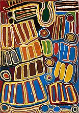 JOHN MOSQUITO TJAPANGATI, (1922 - 2004), UNTITLED, 1993, synthetic polymer paint on canvas