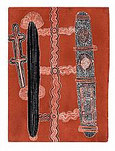 UTA UTA TJANGALA, (1920 - 1990), SPECIAL PINTUPI TRAVELLING CEREMONY, 1972, synthetic polymer powder paint on composition board