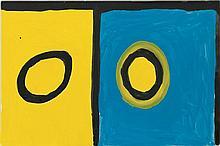 PADDY NYUNKUNY BEDFORD, (c1922 - 2007), UNTITLED, 2003, gouache on crescent board
