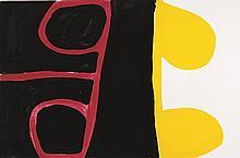 PADDY NYUNKUNY BEDFORD, (c1922 - 2007), UNTITLED, 2004, gouache on crescent board
