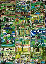 GERTIE HUDDLESTONE, born c1935, NGUKURR LANDSCAPE, 1998, synthetic polymer paint on canvas