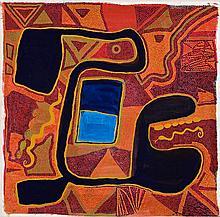 BARNEY ELLAGA, born c1939, HODGSON DOWNS COUNTRY, 1992, synthetic polymer paint on canvas