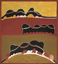 HECTOR CHUNDALOO JANDANY, (c1925 - 2006), NGIRRINY-NGIRRINYI COUNTRY (NGARROOROON), 1999, natural earth pigments on canvas