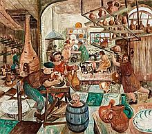 JOHN PERCEVAL - (1923 - 2000) - THE POTTERY, 1948 - oil, resin and tempera on canvas