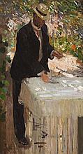 EMANUEL PHILLIPS FOX, (1865 - 1915), FIGURE STUDY FOR THE ARBOUR, c.1909 - 10, oil on canvas