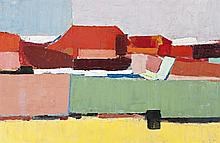 GUY GREY-SMITH, (1916 - 1981), MT VERNON, 1962, oil and beeswax emulsion on gauze on composition board