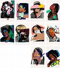 ANDY WARHOL, (1928 - 1987, American), LADIES AND GENTLEMEN, 1975, set of 10 colour screenprints