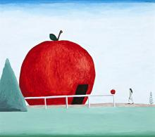 NOEL McKENNA, born 1956, BIG APPLE, BATLOW, NSW, 2004, enamel on board