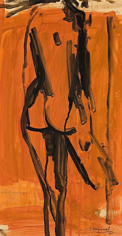 Guy Grey-Smith 1916 - 1981 LIFE DRAWING, 1965 oil on pulpboard