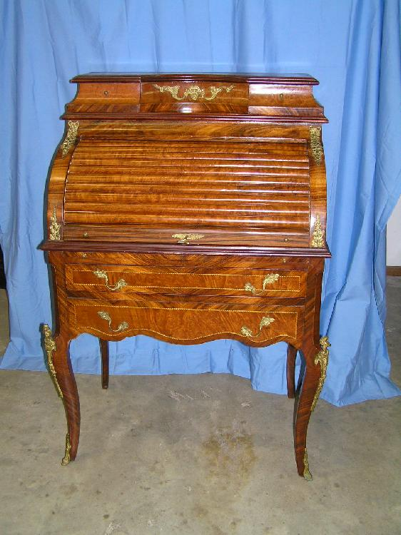 Louis XV – XVI style roll top desk