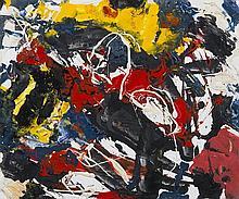 acrylique sur isorel de Giovanni Viarengo (né en 1912)
