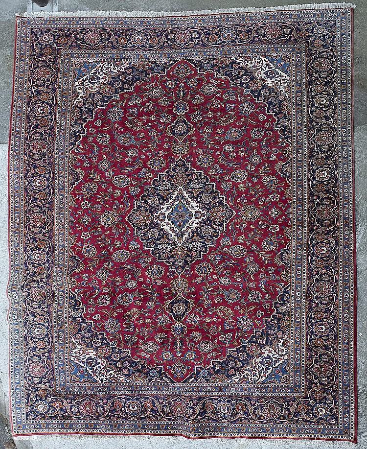 tapis kirman 224 m 233 daillon central floral 224 ch bleu ch
