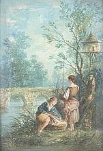 gouache sur papier attribuée à Jean-Baptiste Massé (1687-1767, FR)