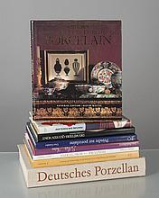lot de livres sur la porcelaine: