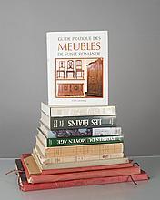 lot de livres sur le mobilier et l'artisanat: