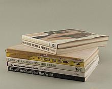 lot de livres sur le dessin de la figure humaine comprenant :