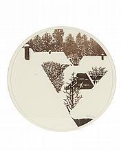 découpage d'Ernst Oppliger  (né en 1950) 'Paysage sous la neige' sbd.