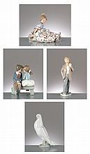 lot de figurines en porcelaine de Lladro comprenant: