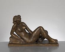 bronze jaune à la cire perdue par Walter Rupp (1902-1955, CH)