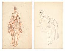 2 dessins de Horace VERNET (1789-1863, FR)