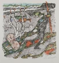 lithographie de Alois GARIGIET (1902-1985)