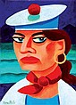 Graham Knuttel b.1954 SAILOR GIRL Oil on Canvas