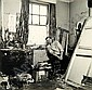 * Beaton (Cecil). Francis Bacon [1960], later printing, seated in cluttered studio by a window with paint-covered walls and curtains, silver print, faint crease to top right corner, identified and coded in Beaton's hand(?) on verso, no. 554/69,