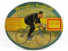 *Hercules-Southall. An original ellipse-shaped advertising card for the