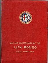 Alfa Romeo 1500cc 'Use and Maintenance' booklet circa 1931,   64
