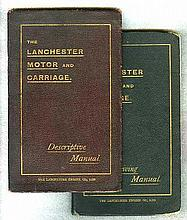 The Lanchester Motor and Carriage - 1903. Offered in two volumes, 'Desc